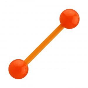 Piercing Langue Bioflex Flexible Opaque Orange
