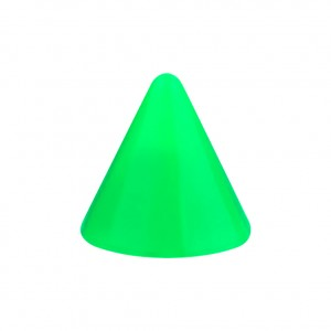 Opaque Acrylic UV Green Barbell Only Spike