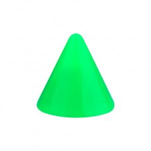 Pique Piercing Acrylique Vert Opaque UV Seul