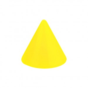 Opaque Acrylic UV Yellow Barbell Only Spike