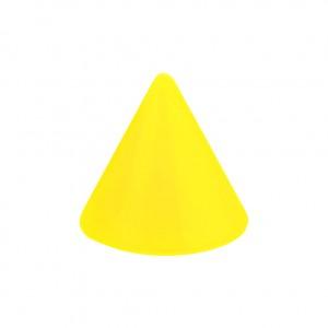 Pique Piercing Acrylique Jaune Opaque UV Seul