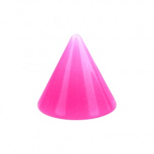 Opaque Acrylic UV Pink Barbell Only Spike