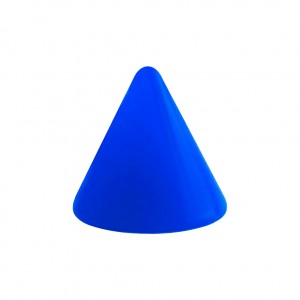 Opaque Acrylic UV Dark Blue Barbell Only Spike