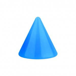 Opaque Acrylic UV Light Blue Barbell Only Spike
