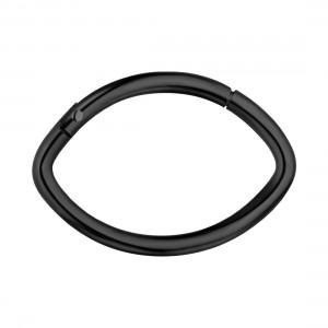 Almond Black Anodized 316L Steel Hinged Segment Ring Piercing