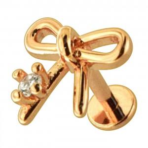 Piercing Helix Knorpel Stahl 316L Knoten Geformt Gold Rosa