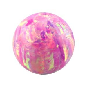 Boule pour Piercing Opale Synthétique Rose
