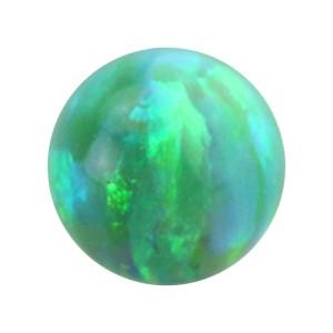 Boule pour Piercing Opale Synthétique Verte