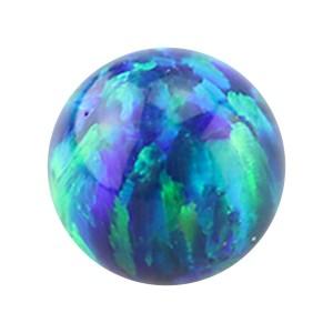 Boule pour Piercing Opale Synthétique Bleue / Verte