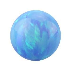 Boule pour Piercing Opale Synthétique Bleue