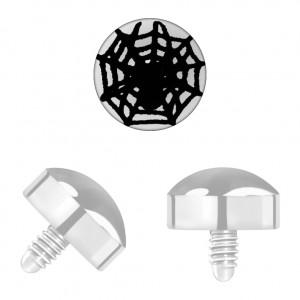 Grade 23 Titanium Black Web for Microdermal Piercing