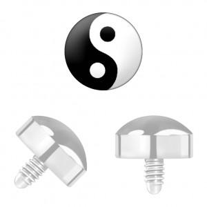 Yin-Yang Titane Grade 23 pour Piercing Microdermal