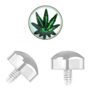 Grade 23 Titanium Cannabis for Microdermal Piercing