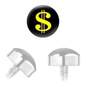 Dollar Titan Grad 23 für Microdermal Piercing