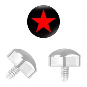 Roter Stern Titan Grad 23 für Microdermal Piercing