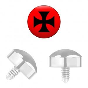 Grade 23 Titanium Iron Cross for Microdermal Piercing