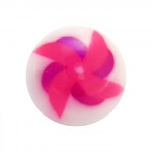 Boule de Piercing Acrylique Moulin à Vent Rose / Violet