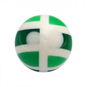 Boule de Piercing Acrylique Structure Vert Foncé