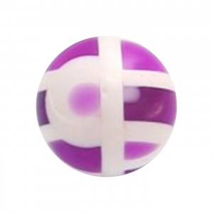 Purple Structure Acrylic UV Piercing Only Ball