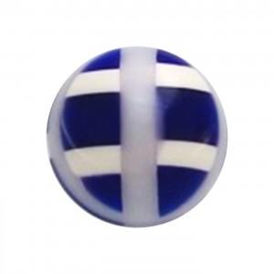 Boule de Piercing Acrylique Structure Bleu Foncé
