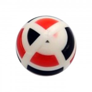 Black/Red Structure Acrylic UV Piercing Only Ball