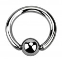 3.2mm/8G BCR Grade 23 Titanium Piercing Thick Ring