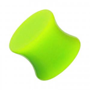 Plug Oreja / Lóbulo Acrílico Sólido Acampanado Doble Verde