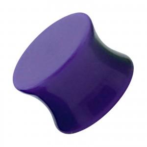 Plug Oreja / Lóbulo Acrílico Sólido Acampanado Doble Púrpura