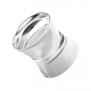 Plug Oreille / Lobe Acrylique Solide Double Vase Transparent