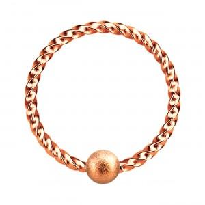 Piercing Ring BCR/CBR Verdrehter Faden Eloxiert Golden Rosa