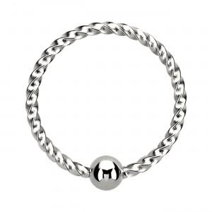 Piercing Ring BCR/CBR Verdrehter Faden Metallisiert