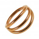 Rose Gold Anodized Three Bars Clicker Ring with Hinge