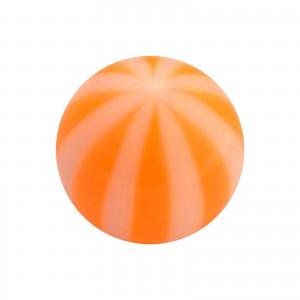 Boule Piercing Acrylique Transparente Bicolore Orange