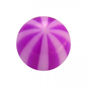 Piercing Kugel Acryl Transparent Zweifarbig Lila