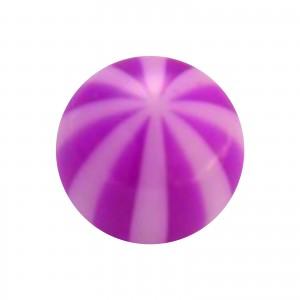 Purple Bicolor Transparent Acrylic Piercing Loose Ball
