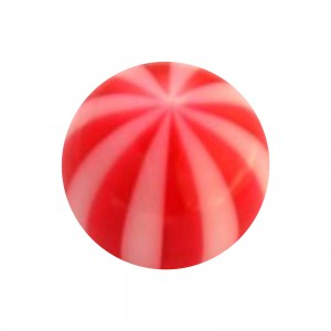 Boule Piercing Acrylique Transparente Bicolore Rouge