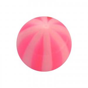 Boule Piercing Acrylique Transparente Bicolore Rose