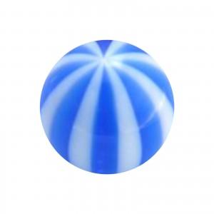 Boule Piercing Acrylique Transparente Bicolore Bleu Foncé