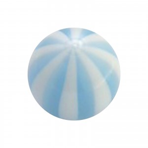Boule Piercing Acrylique Transparente Bicolore Bleu Clair