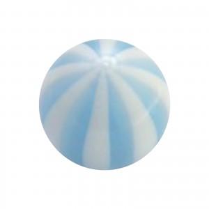 Piercing Kugel Acryl Transparent Zweifarbig Hellblau