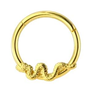 Piercing Clicker Ring Eloxiert Golden Schlange