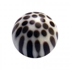 Brown/White Cheetah Dots Acrylic Piercing Loose Ball