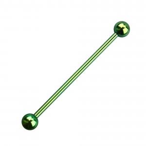 Balls Green Anodized Grade 23 Titanium Industrial Barbell
