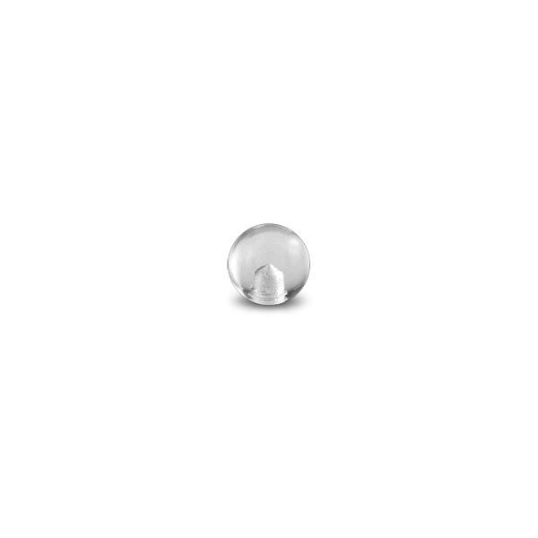 Boule De Piercing Acrylique Transparente Uv Seule