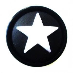 Plug Oreja / Lóbulo Blackline Estrella Blancoa