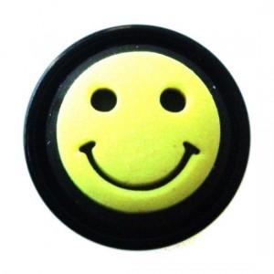 Plug Oreja / Lóbulo Blackline Smiley Amarillo