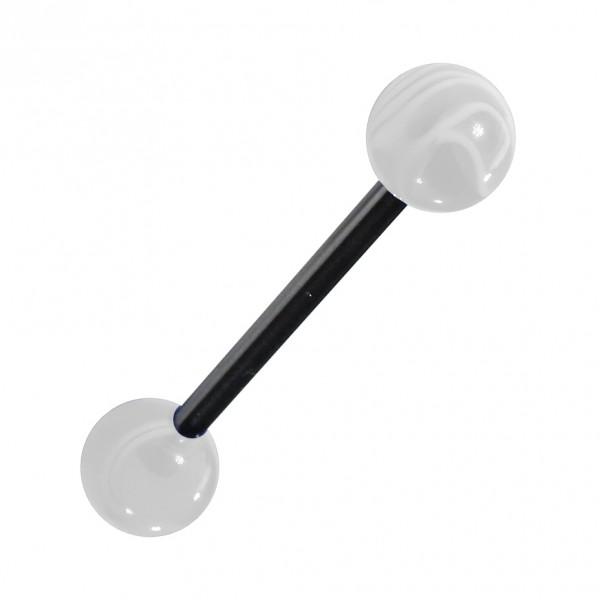 piercing langue acrylique blanc transparent marbr pas cher. Black Bedroom Furniture Sets. Home Design Ideas