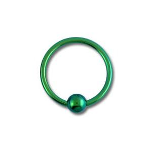 piercing labret anneau titane grade 23 anodis vert fermeture boule. Black Bedroom Furniture Sets. Home Design Ideas