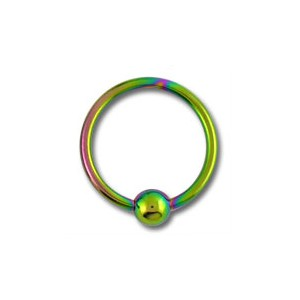 Piercing Labret / Anneau Titane Grade 23 Anodisé Multicolore fermeture Boule