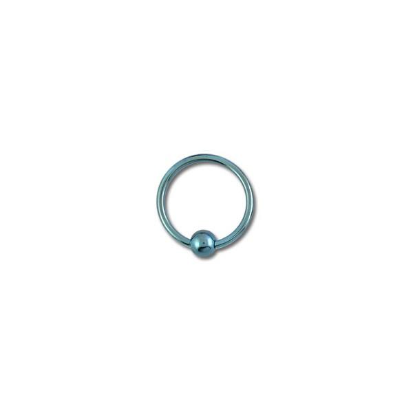 d902fc738304 Piercing Labret   Anillo Titanio Grado 23 Anodizado Azul Claro cierre Bola